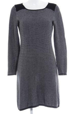 Esprit Pulloverkleid schwarz-weiß Hahnentrittmuster Casual-Look