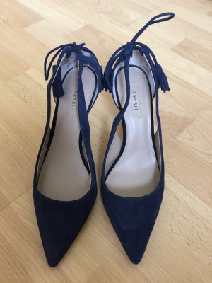 Esprit Pumps, Dunkelblaues Wildleder