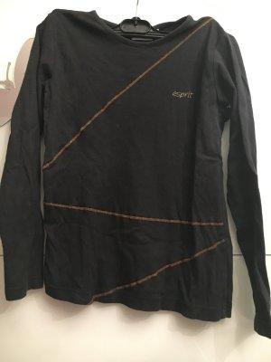 Esprit Puzzle Bluse schwarz mit Steinen
