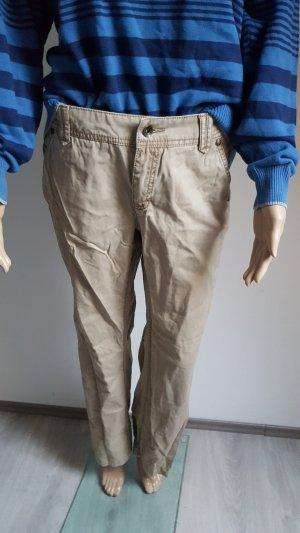 Esprit Regular Cargo Hose Boyfriend Pants Größe 36 beige Damenhose