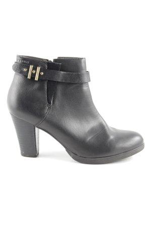 Esprit Reißverschluss-Stiefeletten schwarz schlichter Stil