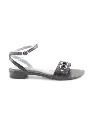 Esprit Sandalias de tiras negro-color plata look casual