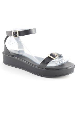 Esprit Riemchen-Sandalen schwarz schlichter Stil