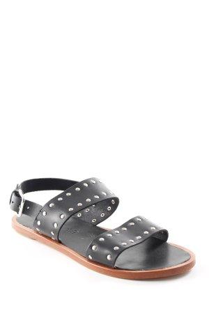 f5b2eafbc60b71 Esprit Riemchen-Sandalen schwarz Street-Fashion-Look