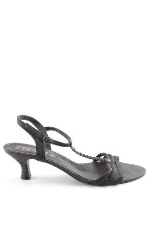 Esprit Riemchen-Sandaletten schwarz Casual-Look