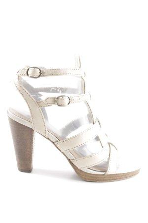 Esprit Sandalo con cinturino e tacco alto bianco sporco stile casual