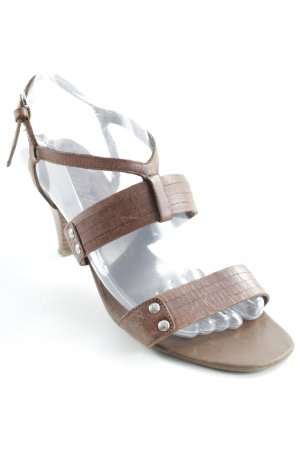 Esprit Strapped High-Heeled Sandals brown casual look