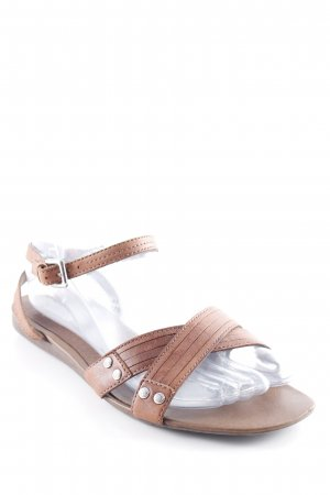 Esprit Strapped High-Heeled Sandals brown simple style