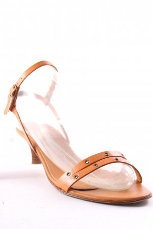 Esprit Strapped High-Heeled Sandals cognac-coloured classic style