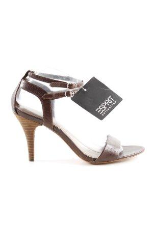 Esprit Riemchen-Sandaletten dunkelbraun schlichter Stil