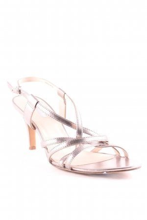 Esprit Strapped High-Heeled Sandals silver-colored casual look