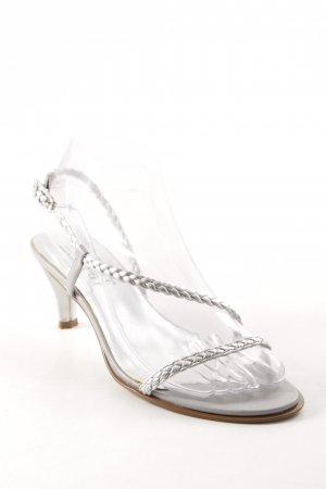 Esprit Strapped High-Heeled Sandals silver-colored elegant