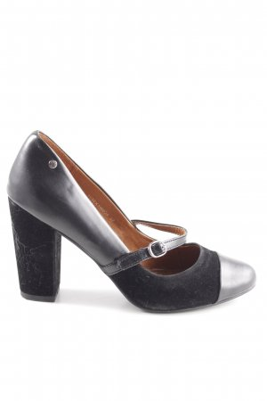 Esprit Riemchenpumps schwarz-silberfarben Business-Look
