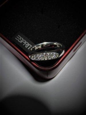 """""""ESPRIT"""" Ring aus 925er Silber mit weißen Zirkonia (gestempelt), ca. 18 mm Innendurchmesser"""