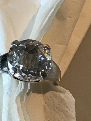 Esprit Ring Durchmesser 2,0 cm, 925/000 Silber, Stein Zirkonia