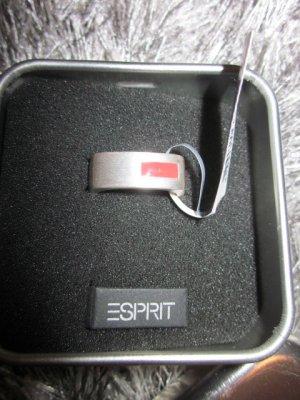 Esprit Ring echt Silber matt mit Rot NEU Gr 56