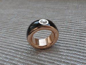 Esprit Ring Gr. 17 Edelstahl Schwarz Rosegold ESRG12194F NEU ohne Etikett