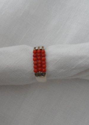 ESPRIT Ring Gr. 53 aus 925 Silber mit Korallenkugeln wenig getragen