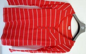 ESPRIT Ringelshirt rot-weiß mit Knopfleite, Gr. XS