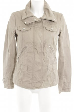 Esprit Ripstop Jacket light grey-natural white quilting pattern casual look
