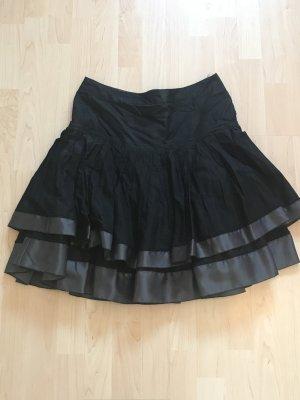 Esprit Gelaagde rok zwart-zilver