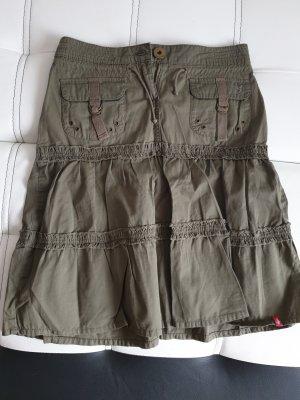 edc by Esprit Asymmetry Skirt olive green-khaki