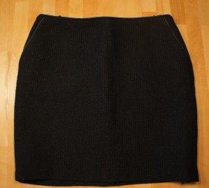 ESPRIT Rock aus festem Stoff mit Wolle, schwarz, Größe 36