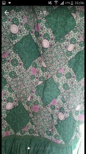 Esprit Rock: In grün mit bunten Mustern in L (Hippie, Psychedelisch, Mandalar, vintage, Sommerrock, Sommer, Frühling)