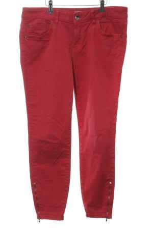 Esprit Pantalon cigarette rouge Aspect de jeans