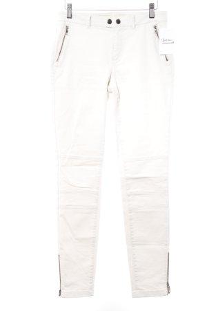 Esprit Pantalón de tubo crema look casual