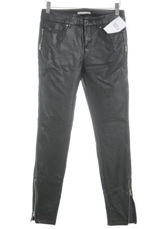 Esprit Pantalón de tubo negro Estilo ciclista