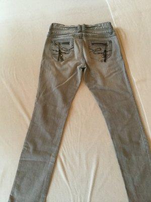 Esprit Tube jeans zwart-lichtgrijs