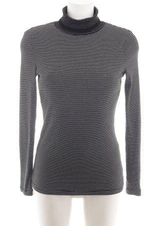 Esprit Rollkragenpullover schwarz-weiß Streifenmuster Business-Look