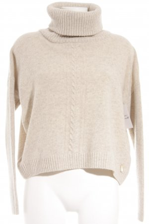 Esprit Turtleneck Sweater cream loosely knitted pattern casual look