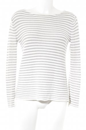Esprit Turtleneck Sweater silver-colored-natural white striped pattern