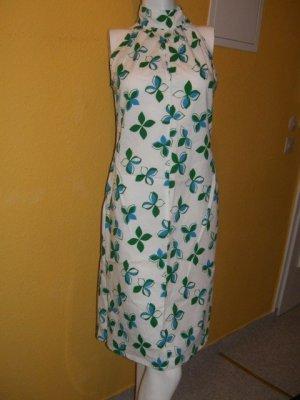 Esprit, romantische babydoll empire Kleid, Grün Weiß Blumen Gr. 38