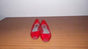 Esprit Rote Lack-  Peeptoes