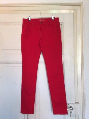 ESPRIT, Rote Medium Rise Skinny Jeans, Größe 30/32