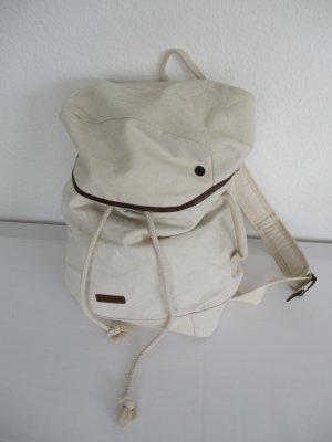 Esprit Rucksack, Leder und Baumwolle, neu