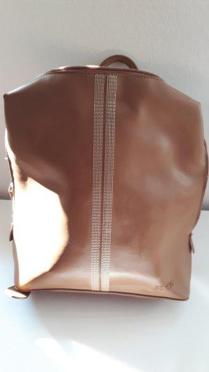 Esprit Backpack camel-beige imitation leather