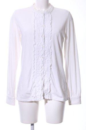 Esprit Ruche blouse wit zakelijke stijl