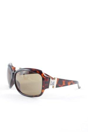Esprit runde Sonnenbrille schwarzbraun-braun Animalmuster Elegant