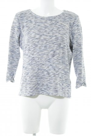 Esprit Rundhalspullover neonblau-weiß meliert Casual-Look