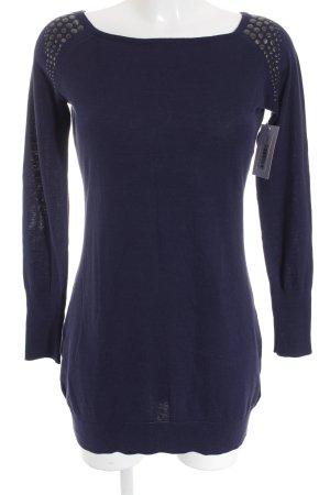Esprit Kraagloze sweater donkerblauw casual uitstraling