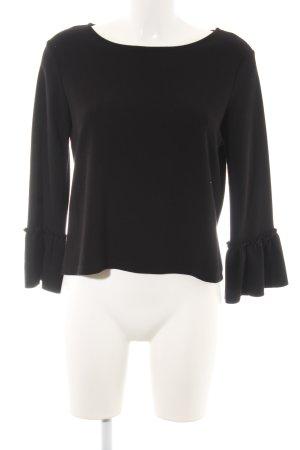 Esprit Kraagloze sweater zwart casual uitstraling
