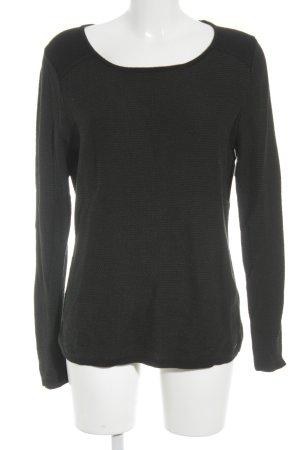 Esprit Rundhalspullover schwarz-dunkelgrün Casual-Look