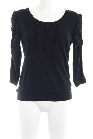 Esprit Rundhalspullover schwarz schlichter Stil