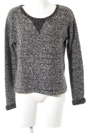Esprit Rundhalspullover schwarz-weiß Casual-Look