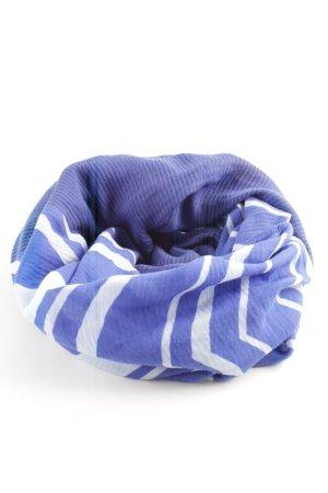 Esprit Caperuza azul-blanco estampado a rayas look casual