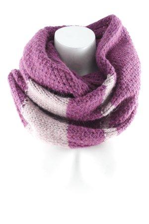 Esprit Écharpe ronde rosé-violet motif rayé style décontracté